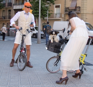 Couple - 4a Bicicletada Modernista Barcelona