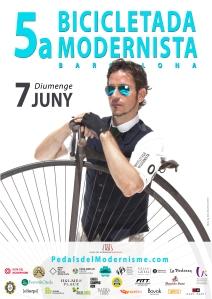 Poster 5a bicicletada modernista 2015